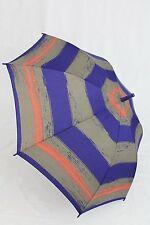 ESPRIT gestreifter Regenschirm Stockschirm blau grau gestreift Damen