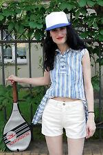 Brittania Damen kurze Kord Hose hot pants weiß white 80er True VINTAGE 80s women