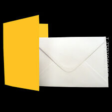 100 C6 A6 Easter - Daffodil Yellow Card Blanks White Envelopes