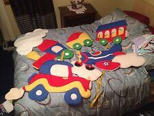 Choice of 1 Kids  BOY Room Wall Hangings Fabric Train Car Airplane Euc