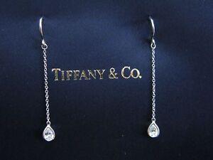 Tiffany & Co Platinum Elsa Peretti Diamond By Yard Earrings