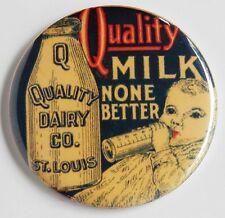 Quality Baby Milk FRIDGE MAGNET dairy cap bottle advertisement