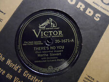 Martha Stewart - She's Funny That Way / There's No You 78 record w/ Orchestra
