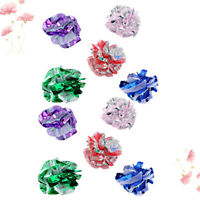 10Pcs Cat Toy Interactive Cute Crinkle Balls Mylar Balls for Kittens Pets Cats