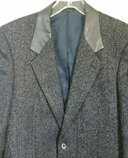 SEXY! Mens Italian Francesco Maiolo Hand Tailored Leather Elbow Patches Blazer