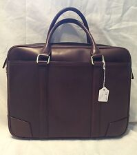 New Business Case zippered Brief Brown In a Silky Calf Leather  SRP  $415.00