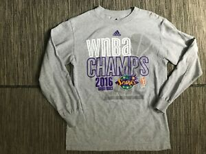 Adidas Womens Small 2016 WNBA Finals Champs Los Angeles Sparks Tee T Shirt