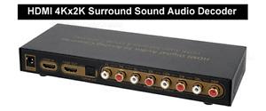 HDMI PCM 7.1 5.1 Surround Audio Decoder With 4Kx2K + EDID Support