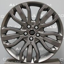 "GENUINE RANGE ROVER SPORT L494 21""INCH GREY ALLOY WHEELS+CONTINENTAL TYRES X4"