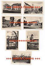 1950's GERMAN set of 7 x ZITTAU Real Mini Photos