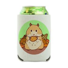 Hamster Eating Stash of Food Can Cooler Drink Hugger Insulated Holder