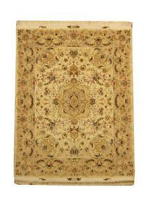 Beautiful Persian Tabrez Silk Beige Carpet 5x7 Special Offer