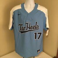 Nike Mens Baseball Jersey North Carolina Tar Heals  #17 Large Sample NWT FS!