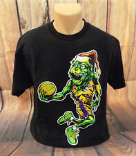 Kobe VI Grinch The Freshnes Graphic Tee Lakers #24 Basketball Black T-shirt L