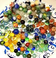 Vintage Lot 140 Marbles Various Sizes and Colors (Bag 5B)