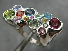 Solo su ordinazione, anello in argento 925, zaffiro, rubino, smeraldo,peridoto