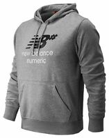 New Balance Men's Numeric Stacked Hoodie Grey
