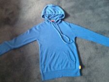 Mens Turquoise Hoodied Jumper Size XS .