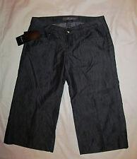 LEVEL 99 GAUCHO retro 70's look capri crop wide leg  jeans shorts 27 NWT