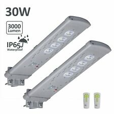 30W 3000LM  Solar Street Light Outdoor IP65  Remote Post Dusk to Dawn PIR Motion