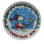 Peanuts Christmas COLLECTORS PLATE First Edition Snoopy Woodstock 1972 7.5 In