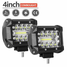 """2x 4""""Zoll 200W Barre LED phare de travail Projecteur ATV Camion/Offroad/Jeep/SUV"""
