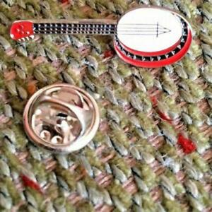 Banjo Enamelled Lapel Pin