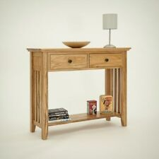 Hereford Rustic Oak Hall Table. H85 W95 D35cm