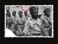 40s Vintage Hong Kong Photo British India Army Sikh Anti Japan War Street #405