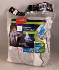 Hanes Men's Cushioned low cut Cool Dri FreshIQ Socks - 7 Pack - Size 6-12