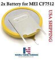 Mei Cf7512 Vending Coin Mechanism/Acceptor Replacement Battery 2 Qty