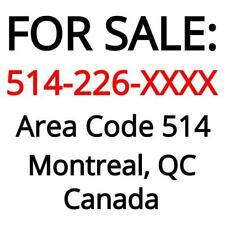 Montreal, QC : 514-226-XXXX