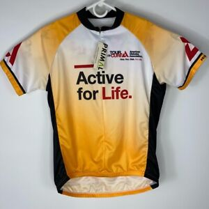 Primal Unisex Tour De Cure 2020 Active For Life Cycling Jersey Yellow L New
