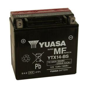 Batterie moto YUASA YTX14-BS 12V 12.6AH 200A