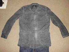 DIESEL Industry Men's Faded Charcoal Black Jacket XL XXL Canvas 100% Cotton Rock