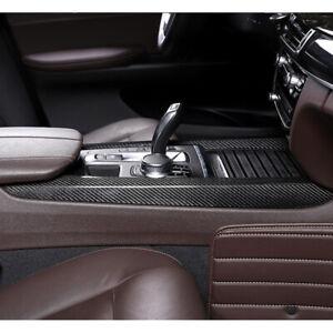 Carbon Fiber Side Center Console Cover Strip Trim Fit for BMW X5 F15 2015-2018
