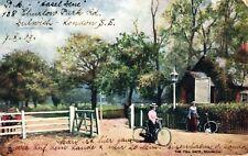 Dulwich, The Toll Gate, Frauen mit Fahrrädern, Tucks AK, 1903 nach Zürich