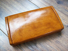 Old leather Gentlemens Cigarette Box or Cigar Case