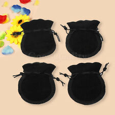 Newest 20 Pcs Black Packing Velvet Drawstring Jewellery Gift Pouch Bag Storage