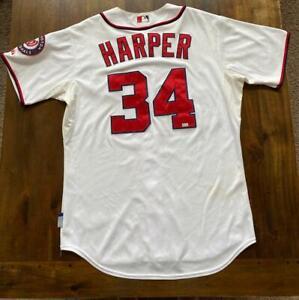 2013 Nationals Bryce Harper Game Used Worn Baseball Jersey SIA LOA