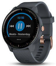 Garmin vivoactive 3 Music GPS Heart Rate Granite Blue w/Rose Gold Hardware Watch