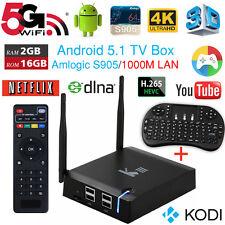 K3 Smart TV BOX Android 5.1 4K S905 2G+16G 5G WIFI BT4.0 1000M + i8+ Remote