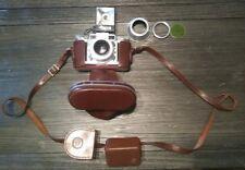 1950s Braun Paxette 35mm Rangefinder Camera 2.8/45 Lens Prontor SVS w/extras
