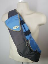 JJ Cole Collections Cross Body Sling Travel Blue & Brown Diaper Bag