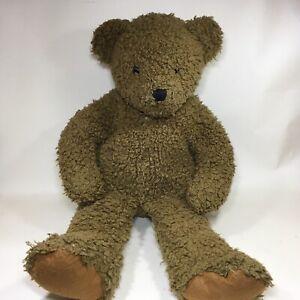 "Vintage FAO Schwarz Brown Plush Bear Felt Foot Teddy 18"""