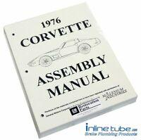1976 Chevrolet Corvette  Factory Assembly Rebuild Instruction Manual Book