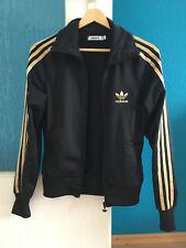 ★★ Adidas ★★ Damen Jacke Sportjacke schwarz gold Sweatjacke Gr. 36 ( S )