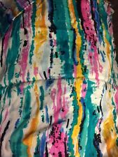 New listing New Bright Coloured Fabric Stripes Material Cotton Blend Blue Green Pink Yellow