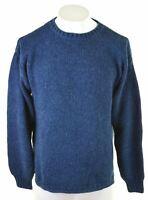 GAP Mens Crew Neck Jumper Sweater Small Navy Blue Cotton  KX07