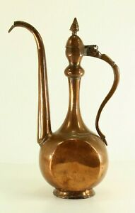 = Antique 18/19th c. Heavy Copper Ewer Ibrik Qajar or Ottoman Empire